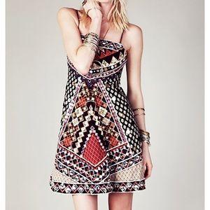 RARE! Free People Mirror Maze Dress